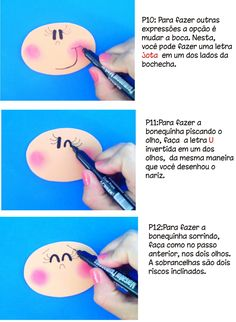 Creativity with Care!!: How to Draw the little face in Fofuchas #4