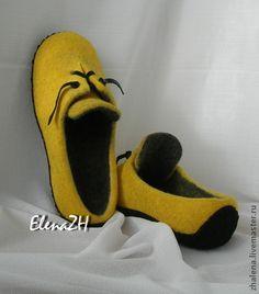Обувь ручной работы. Ярмарка Мастеров - ручная работа. Купить Тапочки - КЕДЫ  валяные.  Модно и тепло.. Handmade. Валяные тапочки