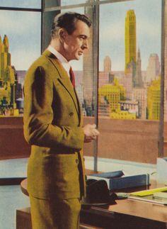 "Gary Cooper en ""El Manantial"" (The Fountainhead), 1949"