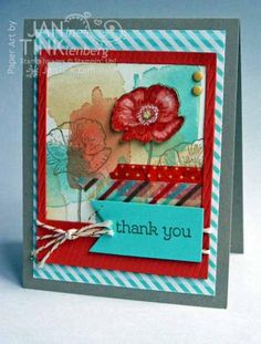 Happy Watercolor Card by JanTInk - Cards and Paper Crafts at Splitcoaststampers
