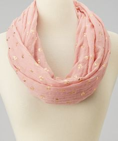 Look what I found on #zulily! Pink & Gold Anchor Infinity Scarf by Imperial #zulilyfinds