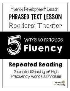 5 Ways to Practice Fluency