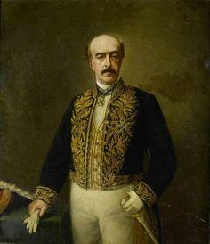 Portret van Otto van Rees (1823-92). Gouverneur-generaal (1884-88).  Onderdeel van een reeks van portretten van de gouverneurs-generaal van het voormalige Nederlands Oost-Indië. After 1884-1899
