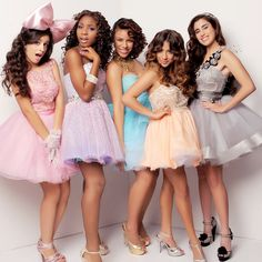 "Fifth Harmony from the Xfactor. Love their cover of the song ""Anything can happen"""