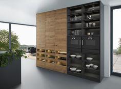 Cocina de madera maciza con isla BONDI | VALAIS by LEICHT Küchen