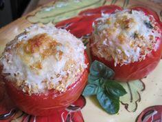 Baked Caprese Stuffed Tomatoes