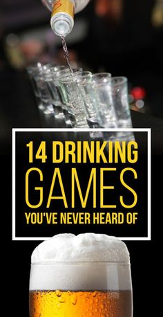 14 Insanely Fun Drinking Games You've Never Heard Of.people always ask me about drinking games and I never know any. This should help! Drinks 14 Incredibly Fun Drinking Games You've Never Heard Of Drinking Games For Parties, Adult Party Games, Adult Games, Fun Games, Halloween Drinking Games, Adult Drinking Games, College Drinking Games, Beer Drinking Games, Two People Drinking Games