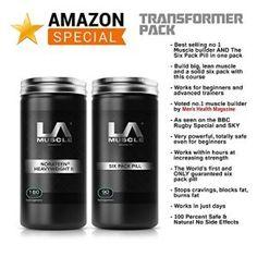 LA Muscle Transformer Paquet Promotion Amazon spécial, obtenir Muscle Builder Heavyweight II Norateen voté no.1 par la santé des hommes et…