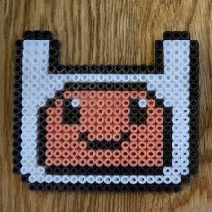 Finn Adventure Time hama beads by valentina_coll
