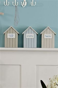 Beach Houses Mums birthday present sorted! Tiny Beach House, Dream Beach Houses, Coastal Style, Coastal Living, Beach Cottages, Beach Huts, Ocean Room, House By The Sea, Bedroom Themes