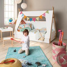 Cama infantil individual con forma de tienda de campaña   Mini Home – El Corte Inglés