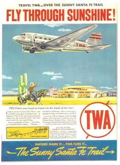 TWA 1944. The lowest point of the Continental Divide is along this route, important in the days of unpressurized passenger aircraft.
