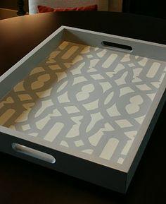 DIY coffee table tray! love it