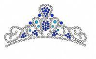 Crown PDF Hot Fix Rhinestone Transfer Pattern