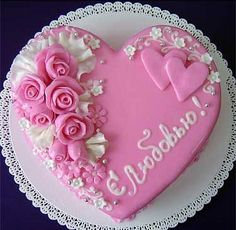 Pink heart cake                                                                                                                                                                                 More
