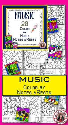 Music lessons  |  music color by note  |  #musiceducation  #musiced