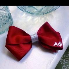 Alpha phi hair bow
