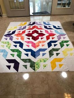 Laying out the blocks Patchwork All Roads Botanicals Quilt Kit by Angela Walters Patchwork Quilt Patterns, Batik Quilts, Modern Quilt Patterns, Scrappy Quilts, Easy Quilts, Quilting Patterns, Quilt Blocks Easy, Modern Quilt Blocks, 3d Quilts