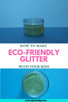 How to make eco-friendly glitter with your kids: this is an easy fun-project you can do with your kids! And: you most likely have all the ingredients at home already. Use your glitter to make Christmas decor, cards etc. But you can make it all year round, not only Christmas :) Chemical free and non-toxic!