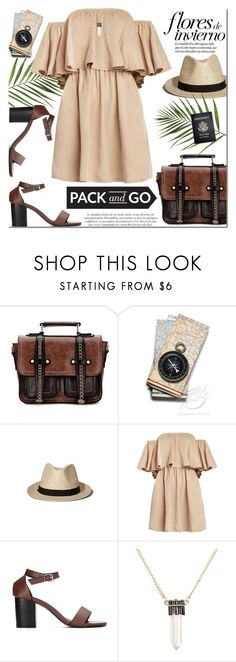 """""""Pack and go"""" by purpleagony ❤ liked on Polyvore featuring Abercrombie & Fitch, Passport, mexico, offshoulderdress, Packandgo and yoins"""