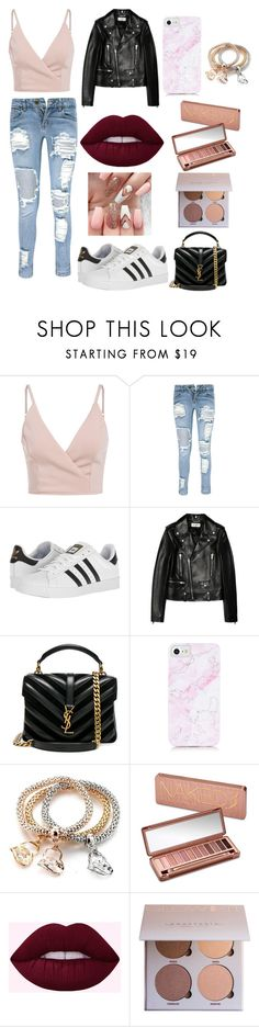 """Untitled #40"" by xdhx16 ❤ liked on Polyvore featuring Boohoo, adidas, Yves Saint Laurent and Urban Decay"
