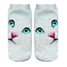 US SELLER-cool socks for women 3D blow kiss Emoji Print Socks Women Girl Low Cut