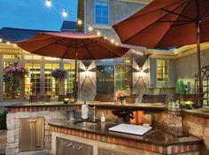 Designed & built by Ryan  Outdoor kitchen elegance!
