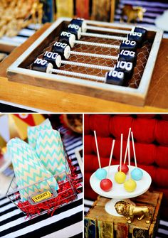 Retro Circus Baby Shower {The Amazing Expanding Woman}