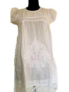 White Chikan Kurti White Kurtis Embroidered Kurti White Embroidery Little White Dresses