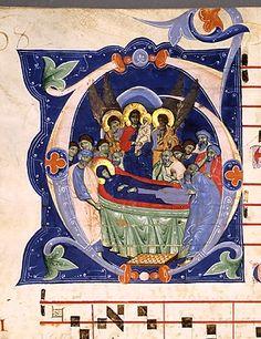 Gerona Bible Master, Bologna, Italy, Gradual, Proper and Common of Saints (folio 84 verso in Manuscript 526), c. 1285