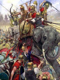 La Pintura y la Guerra. Sursumkorda in memoriam Greek History, Roman History, Ancient History, Military Art, Military History, War Elephant, Punic Wars, Rome Antique, Greek Warrior