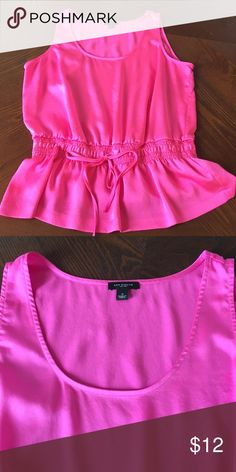 Ladies Ann Taylor Top Ladies Ann Taylor sleeveless, drawstring/elastic waist, peplum style top.  Size S, excellent condition! Ann Taylor Tops Tank Tops