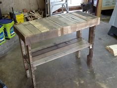 Pallet wood entry way table!!!