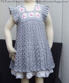 Ravelry: Grey Granny Square Dress pattern by Ingunn Santini