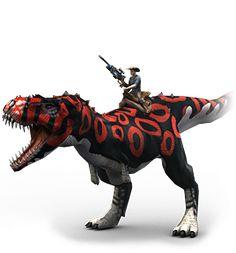 Play for free at DinoStorm.com -- Dino Storm --  Key Character 7 --- Cowboys, Dinosaurs, and laser guns!