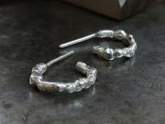 Boho Earrings Unique Silver Earrings Hoop Studs Gypsy | Etsy