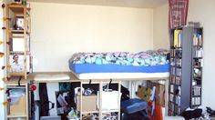 IKEA Hackers: loft bed with storage