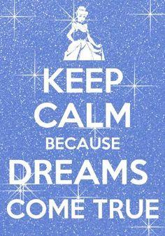 garder son calme parce que les rêves deviennent réalité