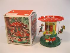 VINTAGE CAROUSEL SCHOPPER SNOW WHITE AND 7 DWARFS WESTERN GERMANY WITH BOX