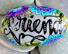 family / painted rocks / painted stones / we by LoveFromCapeCod