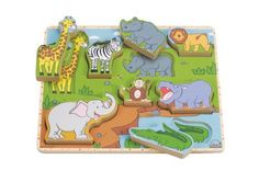 Wild Animals Stand-up Puzzle by Educo. $16.24. From the Manufacturer                The animal puzzle pieces can be used as play figures in your pretend zoo or placed in their delightful puzzle tray                                    Product Description                Wild Animals Stand-up Puzzle