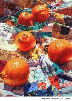 Oh my Darlin'. by Chris Krupinski Watercolor Painting Inspiration, Art Inspo, Painting Competition, Fruit Painting, Still Life Art, Ap Art, Fruit Art, Portfolio, Art Plastique