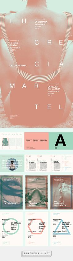 Ciclo de cine   Lucrecia Martel on Behance... - a grouped images picture - Pin… Brand Identity, Branding, Flyers, Editorial, Behance, Posters, Graphic Design, Digital, Cover