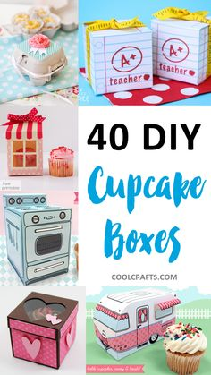 After you have made your tasty cupcakes, it is time to package them to add that extra touch. Here are 40 DIY cupcake box ideas to help you package your cupcakes. ideas box Cupcake Boxes: 40 DIY Ideas to Package Your Cupcakes Cupcake Packaging, Bakery Packaging, Packaging Ideas, Cupcake Boxes, Diy Cupcake, Ideias Diy, Diy Box, Mason Jar Crafts, Bake Sale