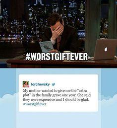 Hashtags = Worstgiftever