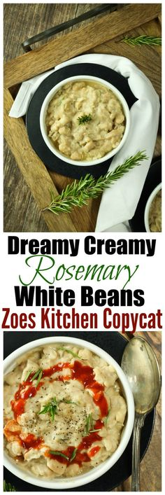 "Dreamy Creamy Rosemary White Beans REMAKE from the super popular ""Braised White…"