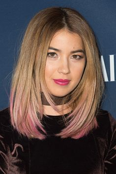 actress-nichole-bloom-arrives-at-nbc-and-vanity-fair-toast-the-tv-picture-id620694254 (395×594) Nichole Bloom, Stunning Women, Celebs, Celebrities, Cut And Color, Asian Beauty, My Girl, Short Hair Styles, Hair Makeup