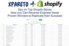 Xpareto- Spy on Top Shopify Stores, Now you Can Reverse Engineer these Proven Winners to Replicate their Success!
