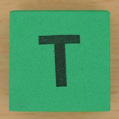 Foam brick letter T by Leo Reynolds, via Flickr
