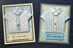 it happened like this...: folded shirt father's day card tutorial